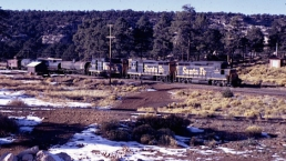 The thrice-weekly freight at Grand Canyon Station, circa 1970